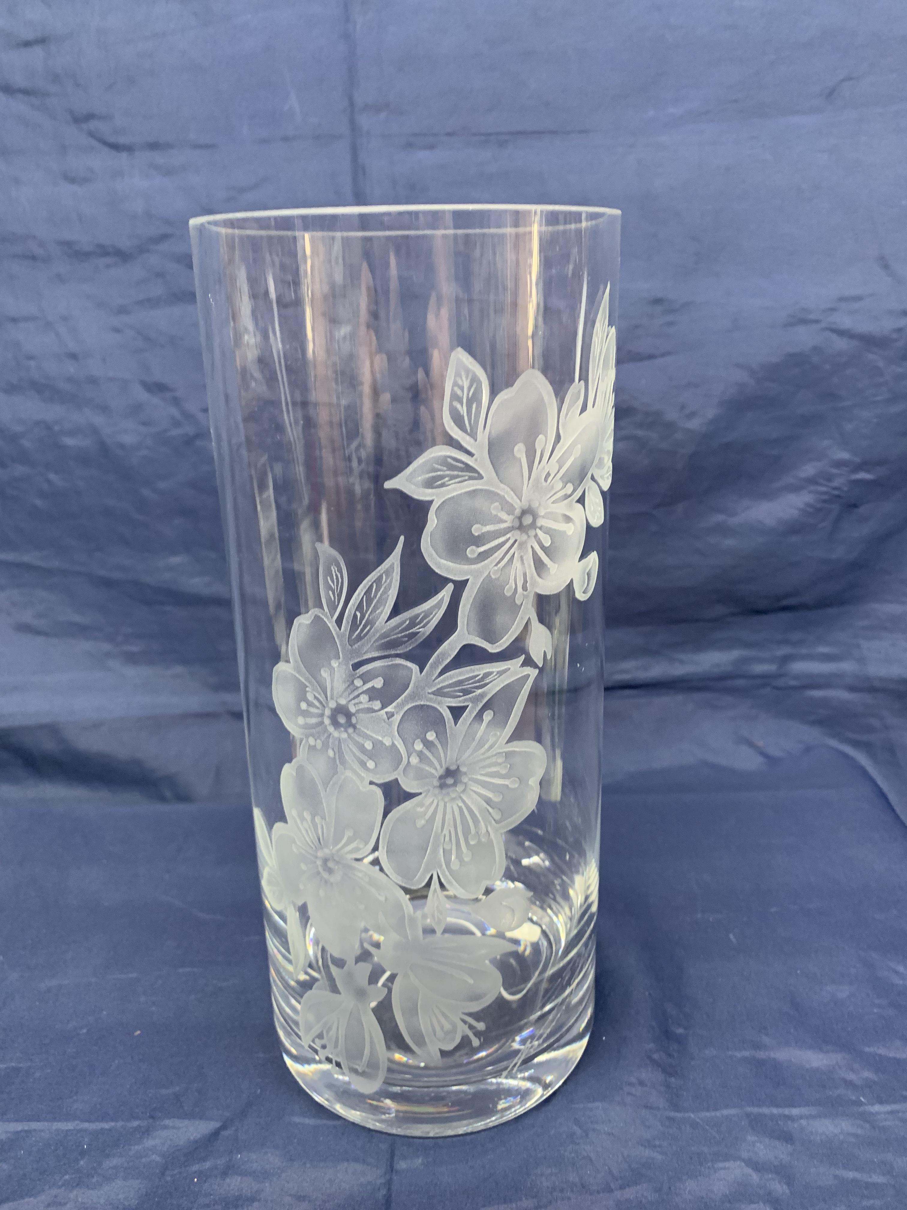 Vase cylindrique Fleurs de Cerisier Gd format